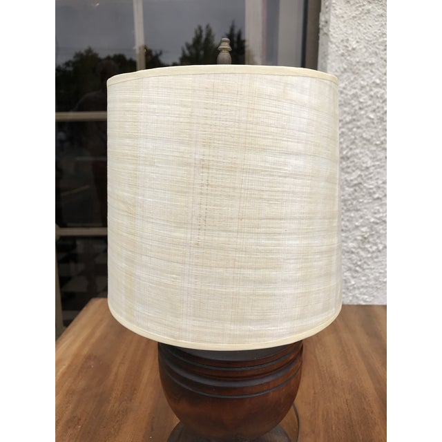 Small Wooden Urn Lamp For Sale - Image 6 of 7