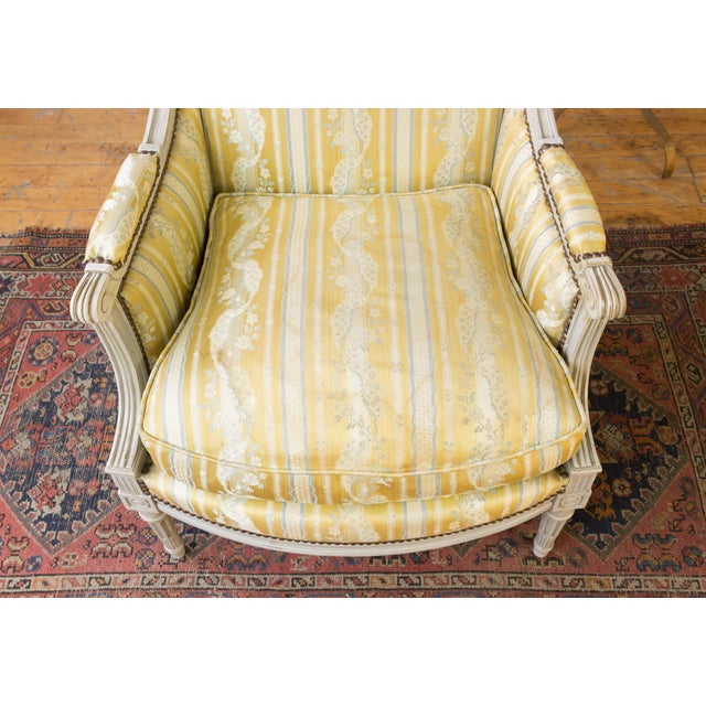 Pair of French Louis XVI Style Armchairs For Sale - Image 9 of 12