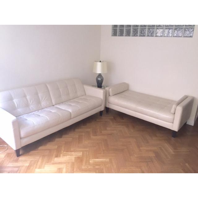 Macy's Milan Leather Sofa - Image 3 of 3