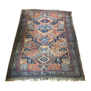 Early 20th Century Antique Hand-Knotted Kilim Rug - 8″ × 10″ For Sale