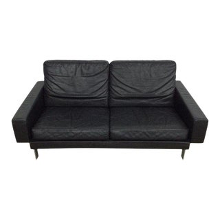 1960s Vintage Illum Wikkelso for A. Mikael Laursen Leather Sofa For Sale