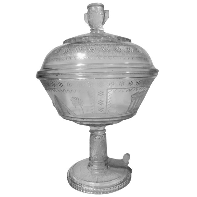 Adams Glass Egyptian Compote - Image 1 of 9