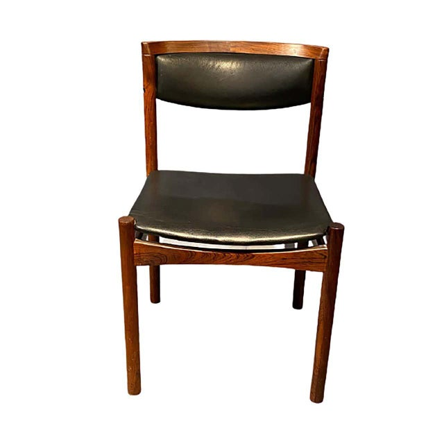 Black Six Mid-Century Modern Danish Dining Chairs, Soro Stolefabrik Denmark, Rosewood For Sale - Image 8 of 13