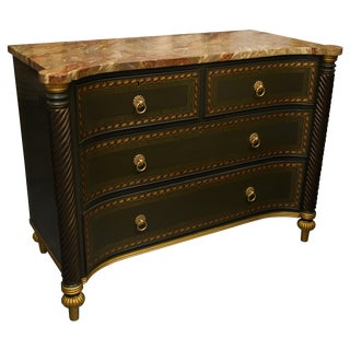 19th Century English Regency Chest of Drawers Later Custom Painted For Sale
