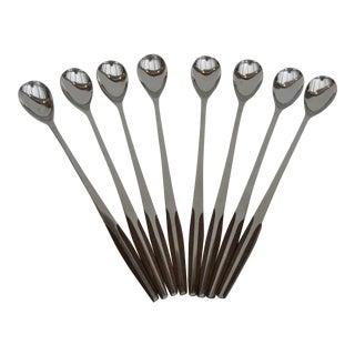 Mid-Century Eldan Japanese Ice Tea Spoons - Set of 8 For Sale