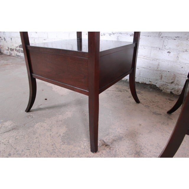 Barbara Barry for Baker Furniture Dark Mahogany Étagères, Pair For Sale - Image 10 of 13