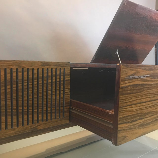 """1970s 1970s Blaupunkt GmbH """"Arizona"""" Rosewood & Chrome Stereo Console For Sale - Image 5 of 13"""