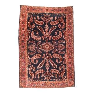 Antique Rust Mohajeran Sarouk Persian Area Rug For Sale