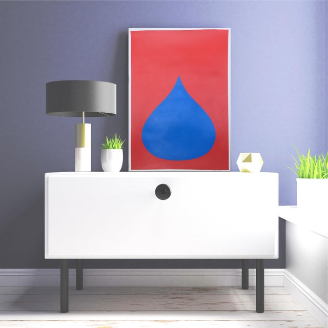 Fat Drop of Superman Blue on Red by Stephanie Henderson - Image 4 of 4