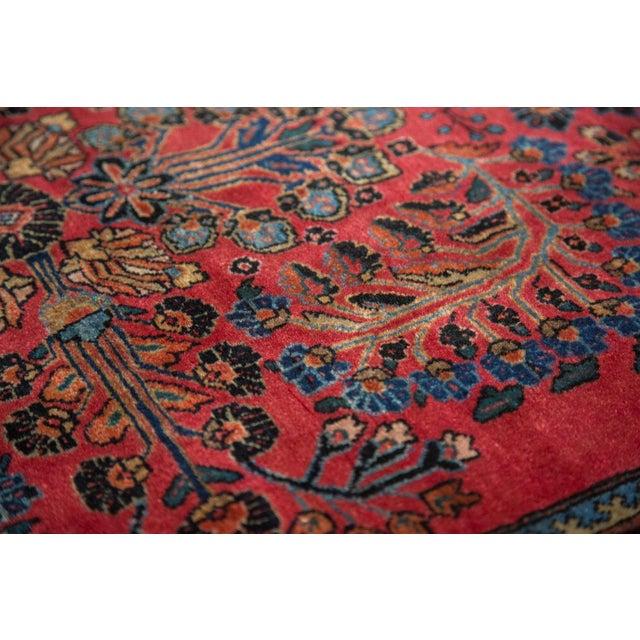 "Textile Vintage American Sarouk Rug - 3'3"" x 4'11"" For Sale - Image 7 of 11"