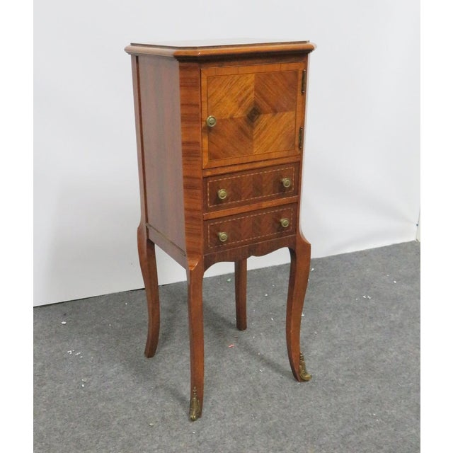 Gold Louis XV Rosewood Nightstand For Sale - Image 8 of 8