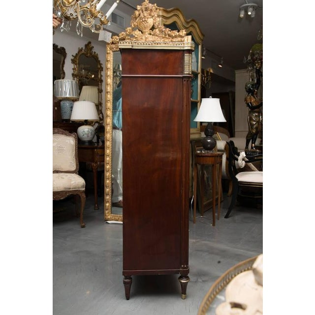 Louis XVI 19th Century, Louis XVI Style Mahogany Bookcase For Sale - Image 3 of 10