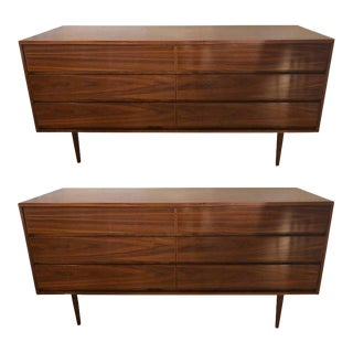 Mid-Century Modern Double Drawer Dressers - A Pair