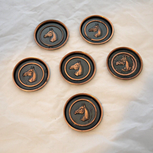 Bronze Equestrian Horse Coasters - Set of 6 - Image 2 of 6