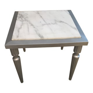 Hollywood Regency Style Marble Drink Table For Sale