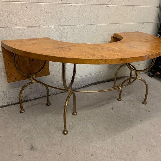 Hollywood Regency Master Craft Hunt Table For Sale - Image 3 of 13