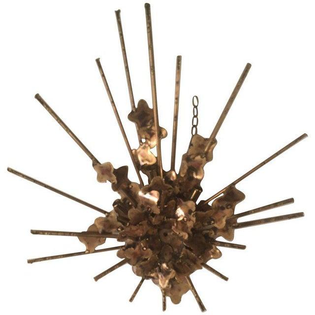 Tom Greene for Feldman Brutalist Torch Cut Wall Light Sconce For Sale - Image 10 of 10