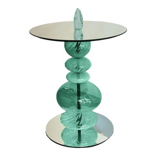 Abacus Verdigris Accent Table For Sale
