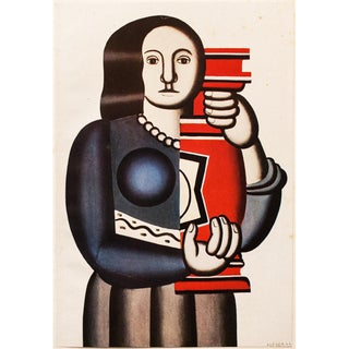 "1948 Fernand Léger Original Period Parisian ""The Woman With the Vase"" Lithograph For Sale"