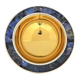 Lapiz Lazuli Los Castillo Brass & Silver Bowl