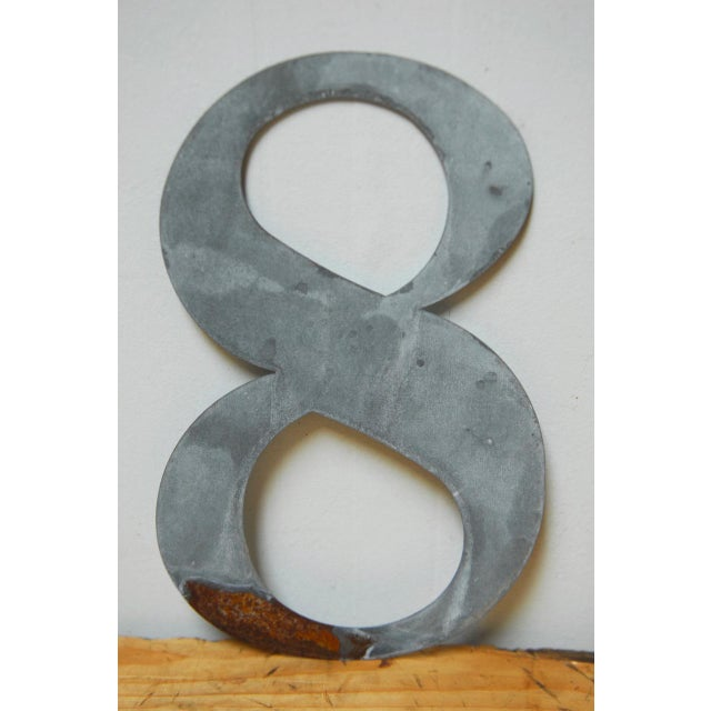 Metal Numbers - Set of 10 For Sale - Image 10 of 11