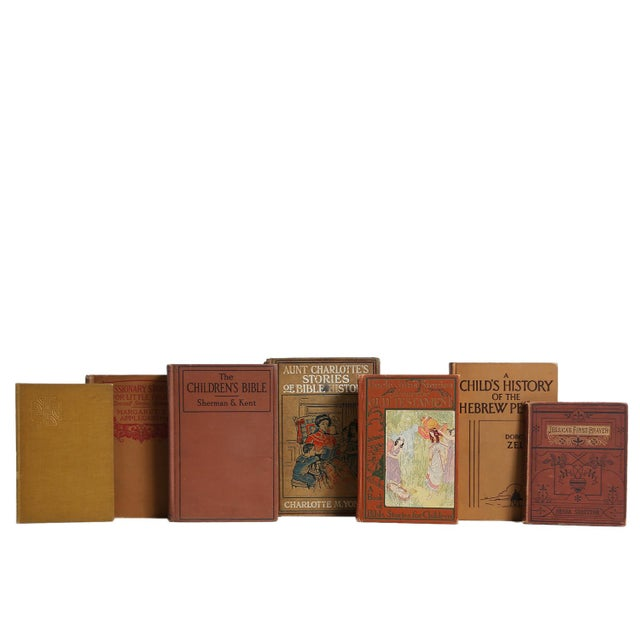 Antique Christian Reading For Children, S/7. Features a blend of seven authentic antique and vintage books published...