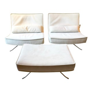 Ligne Roset Pop Chairs & Ottoman - Set of 3 For Sale