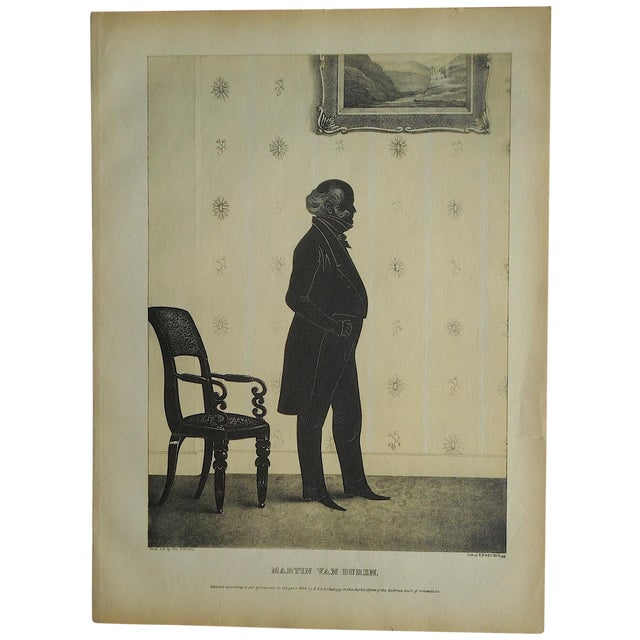Antique Silhouette Lithograph For Sale