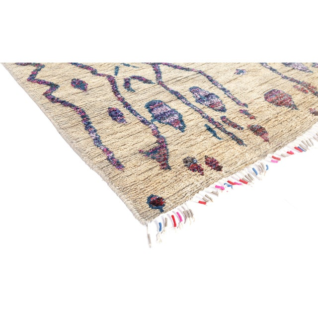 "Tullu Hand Knotted Runner Rug - 4' 3"" X 12' 3"" - Image 2 of 4"