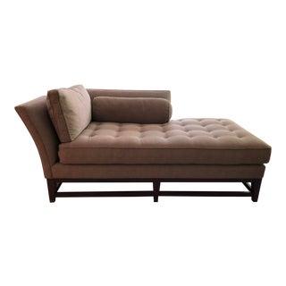 Modern Kravet Tufted Brown Chaise