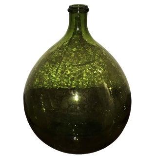 Mid Century Modern Argentinian Vintage Peridot Green Wine Jug