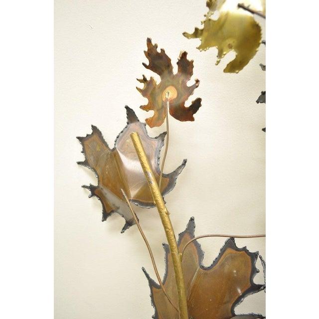 Vintage Mid Century Modern Curtis Jere Maple Leaf Wall Sculpture Brutalist A For Sale - Image 10 of 11