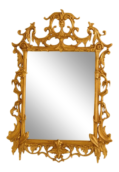 Baroque Gold Mirrors Friedman Brothers Baroque Gold Carved Frame Mirror For Sale
