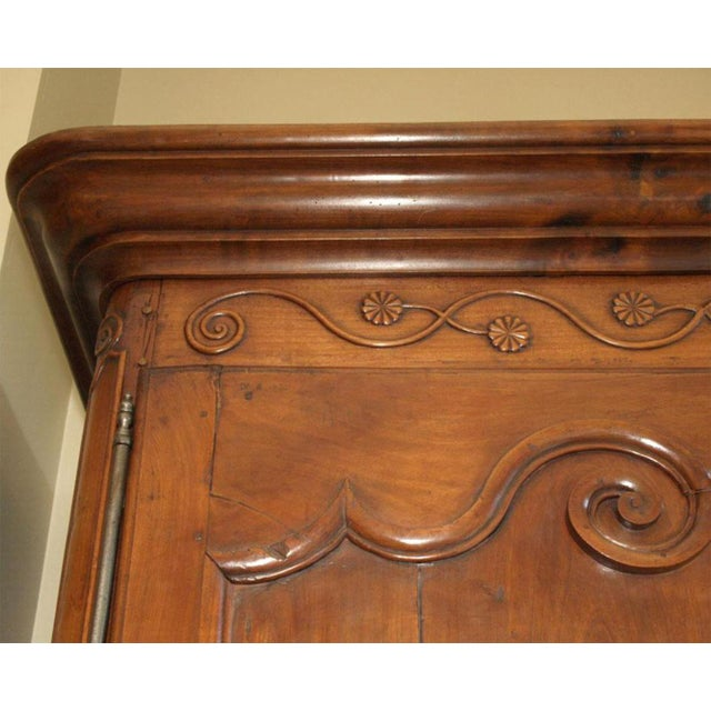 Louis XV Walnut Armoire For Sale In New Orleans - Image 6 of 10
