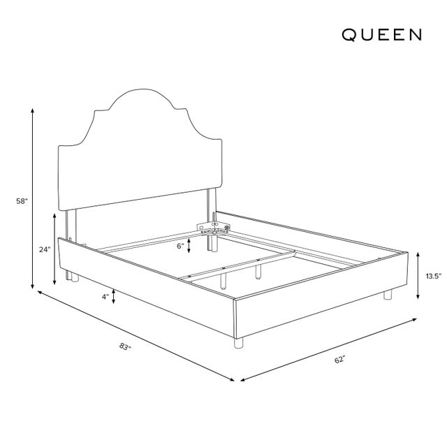 Not Yet Made - Made To Order Queen Bed, Washed Cheetah Cream Grey For Sale - Image 5 of 6
