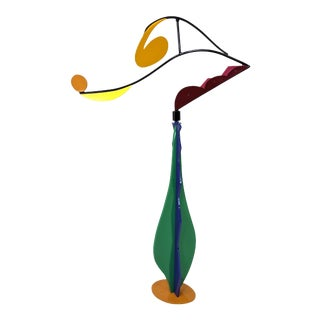 Abstract Modernist Mobile in Block Colors Enameled Kinetic Sculpture For Sale