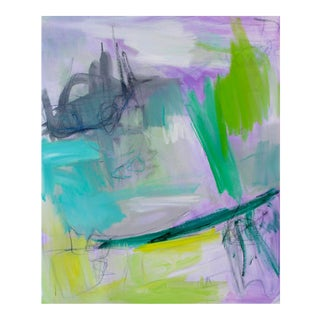 """""""Emerald City"""" by Trixie Pitts Abstract Oil Painting For Sale"""
