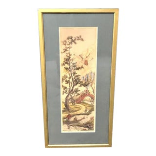 "Early 1900s Signed Hand-Painted Lithograph Print ""Peaceland"" by H. Alexander For Sale"