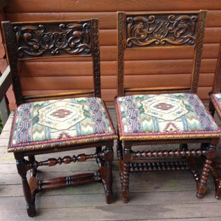 1684 French Chateau Renaissance Dining Side Chairs - Set of 6 Preview