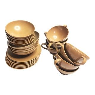 Vintage Brown Texas Ware Melamine Dining Set