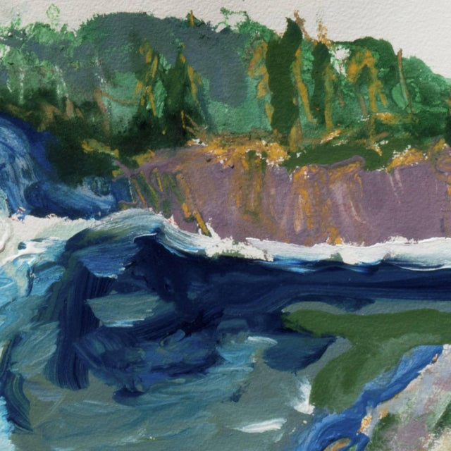 Early 21st Century 'Hidden Cove, Big Sur' by Robert Canete, Post-Impressionst California Seascape For Sale - Image 5 of 7