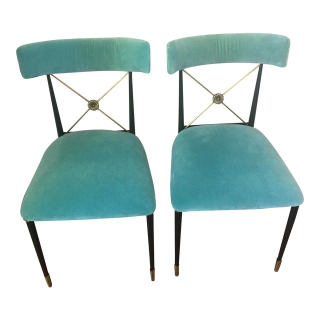 Jonathan Adler Rider Dining Chairs A Pair Chairish