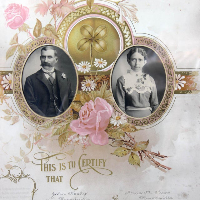 1900's Marriage Certificate - Image 5 of 9