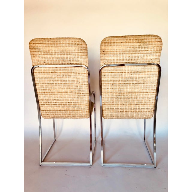 Metal Design Institute of America Mid-Century High Back Dining Chairs - A Pair For Sale - Image 7 of 12