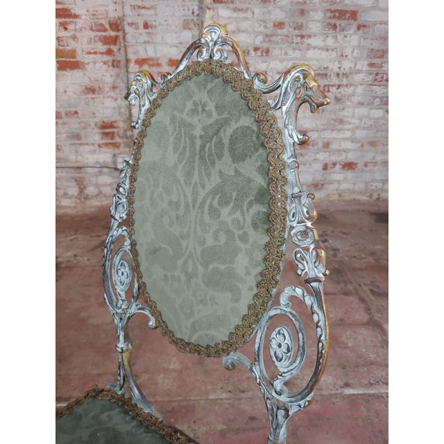 19th Century 19th Century Bronze Vanity Chair W/ Lions Heads For Sale - Image 5 of 10