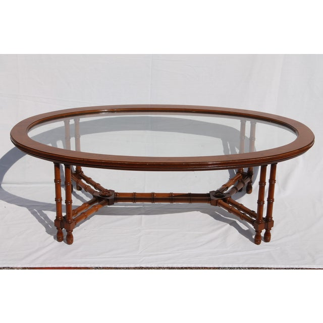 1960's Mid-Century Faux Bamboo Coffee - Image 6 of 11