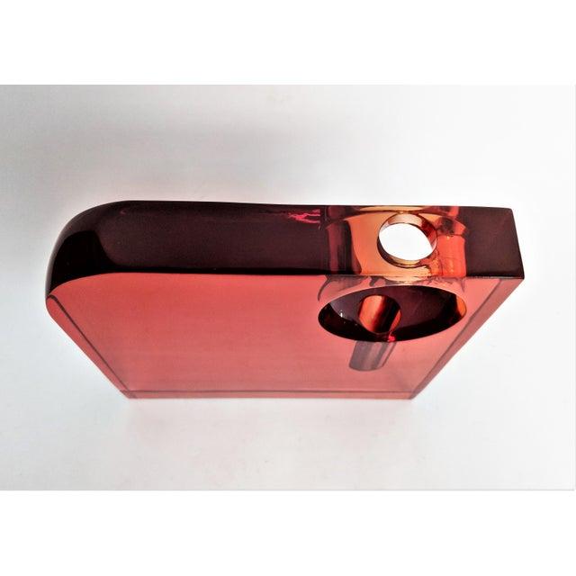 Orange Lucite Bud Vase For Sale - Image 5 of 11