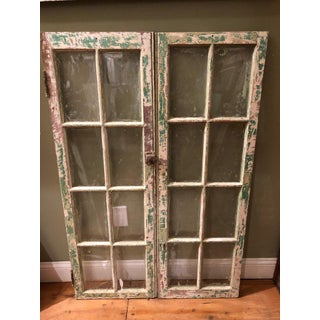 1940s Antique Distressed Windows- A Pair Preview