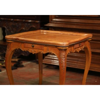 Early 20th Century French Louis XV Carved Oak Game Table With Brown Leather Top Preview