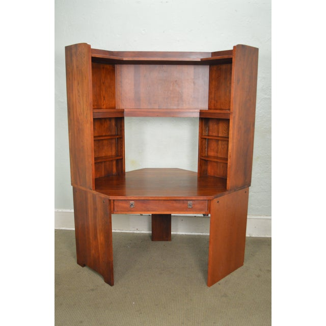 Stickley solid cherry corner desk w bookcase top chairish stickley solid cherry corner desk w bookcase top image 2 of 10 watchthetrailerfo